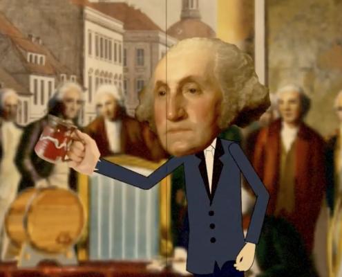 George Washington gets his Rum on.