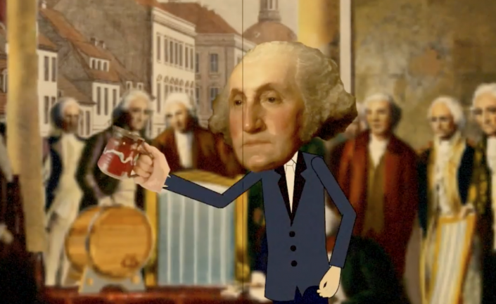 George Washington gets his Rum on.